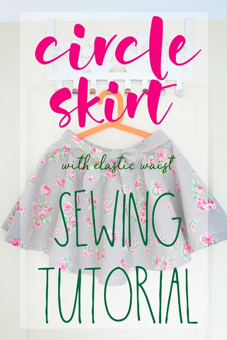 bd818be17f CIRCLE SKIRT SEWING TUTORIAL - Do you love the look of those twirly full circle  skirts? Here's how to make a circle skirt for yourself or your little girl,  ...