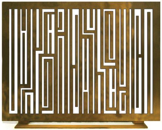 mid century modern fireplace screen. Larameeee: \u201cTwo Is Company; A Symphony In Handmade Interiors, Brass Fireplace Screen Mid Century Modern