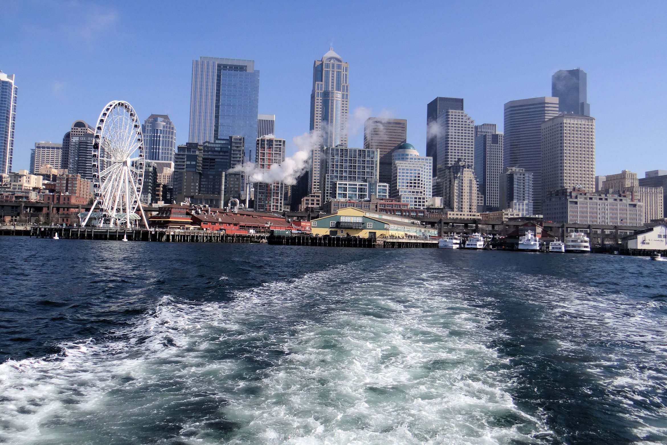 """On the Boat """"The Good Times"""" Leaving Seattle pier 55"""