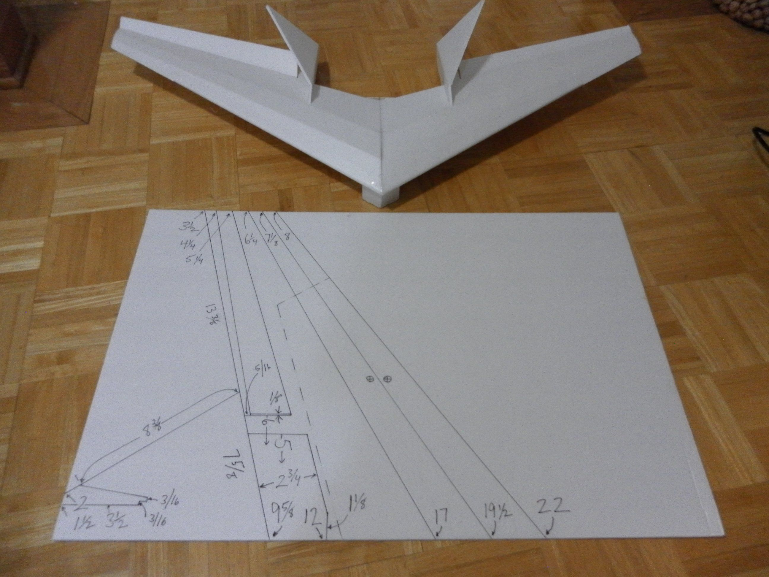 One Sheet And Two Sheet No Waste Flying Wings Flying Wing Model Airplanes Plywood Boat Plans