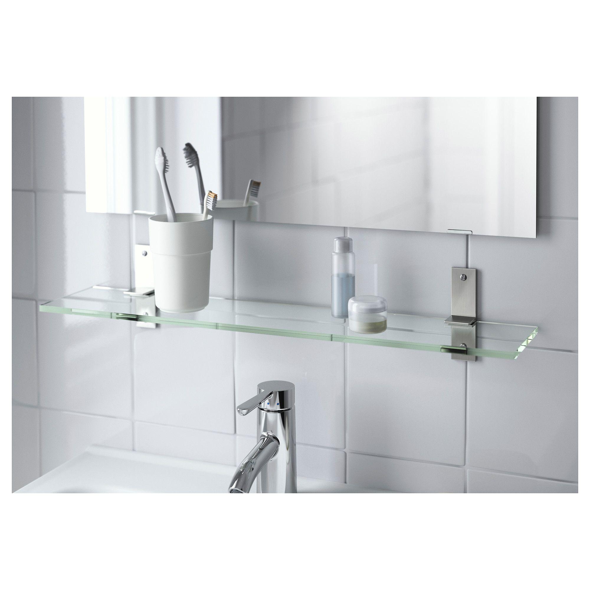 IKEA GRUNDTAL glass shelf Tempered glass - extra resistant to heat ...