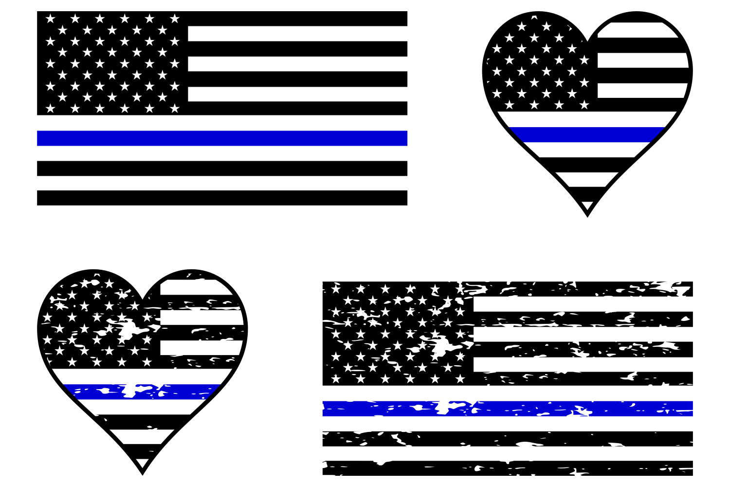 3 Pack Thin Blue Line Helmet Decal Sticker Jeep Car Police Officer Cop USA Truck
