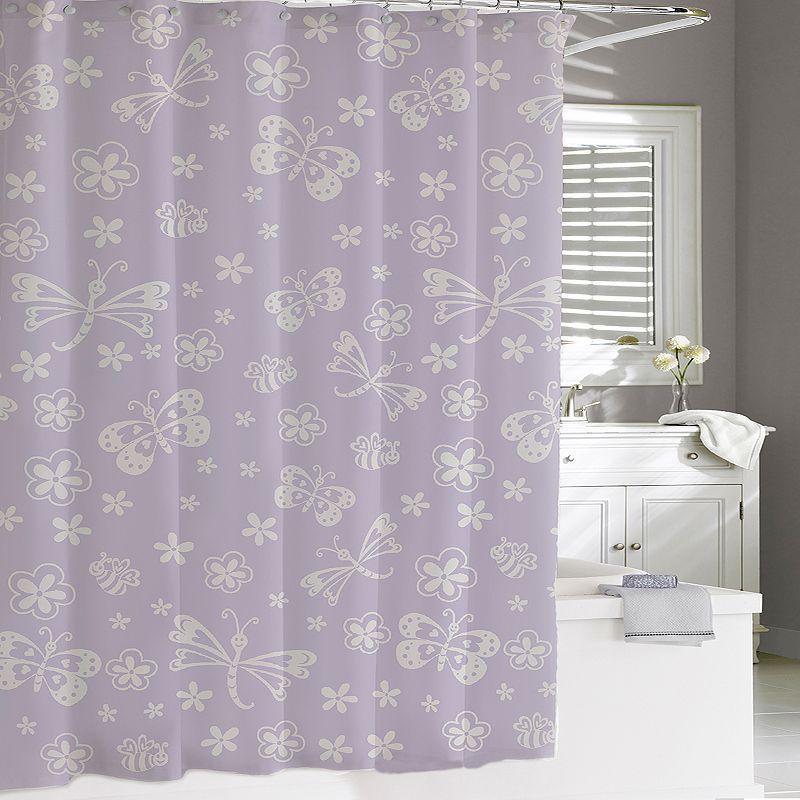 Kassatex Kassa Kids Butterfly Shower Curtain | Butterfly shower ...