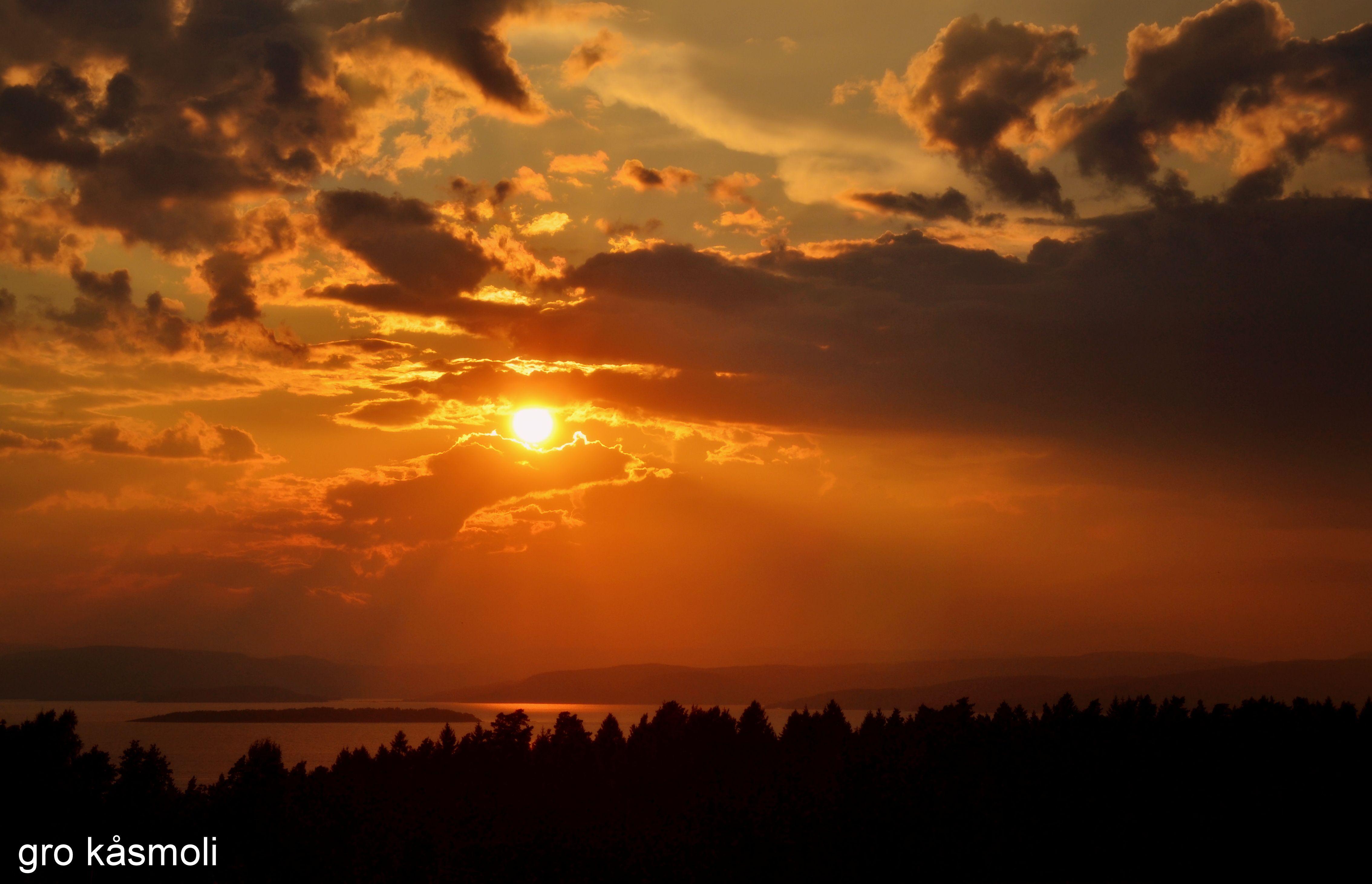 Solnedgang på Jeløya