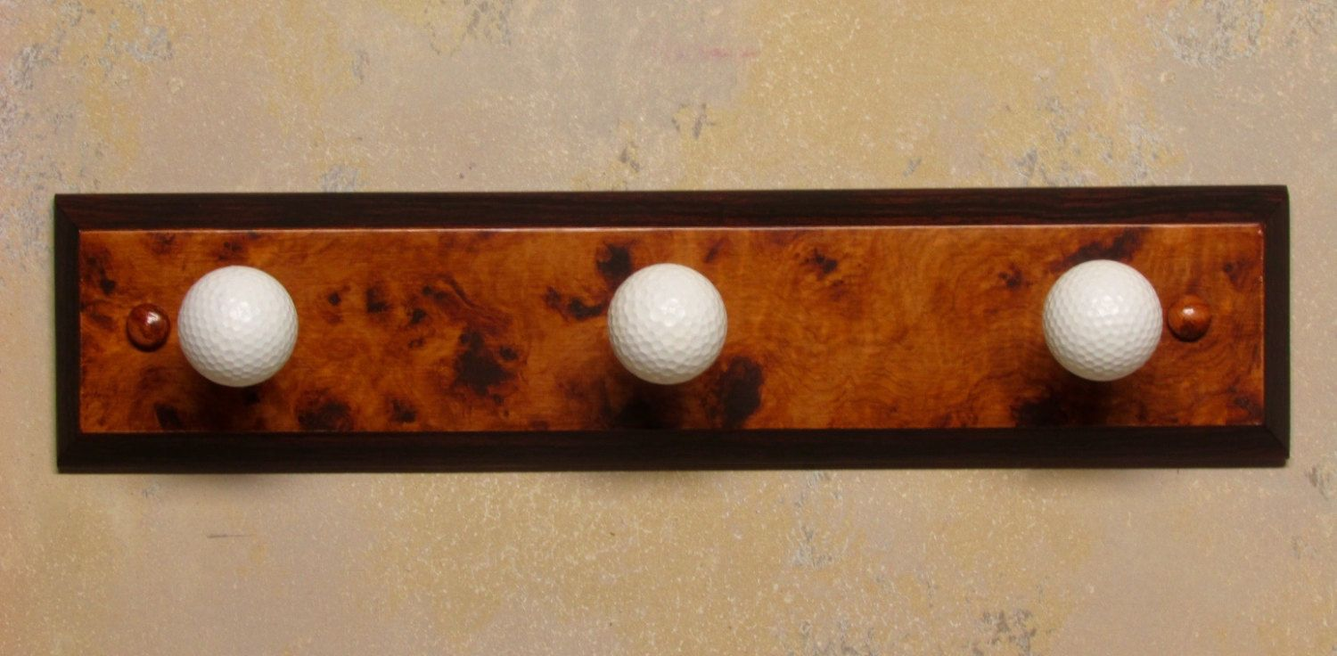 Golf Hat Rack by RealFauxFinishes on Etsy
