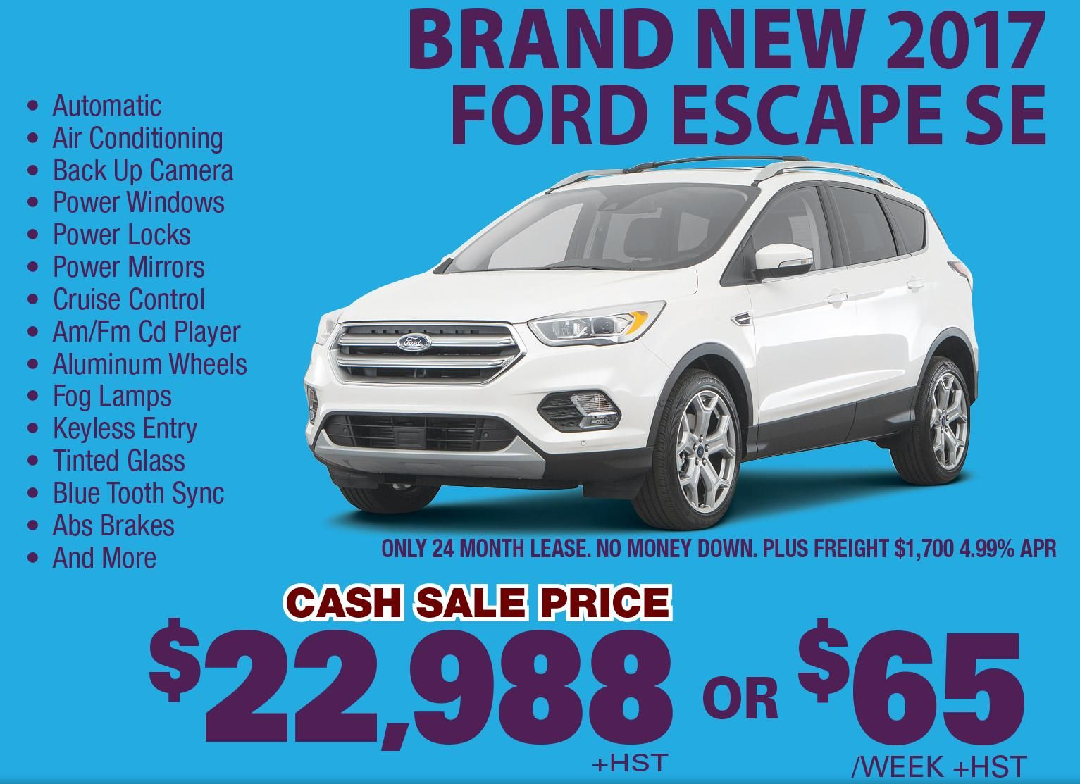 This 2015 Ford Escape Suffered Damage To The Front Bumper No