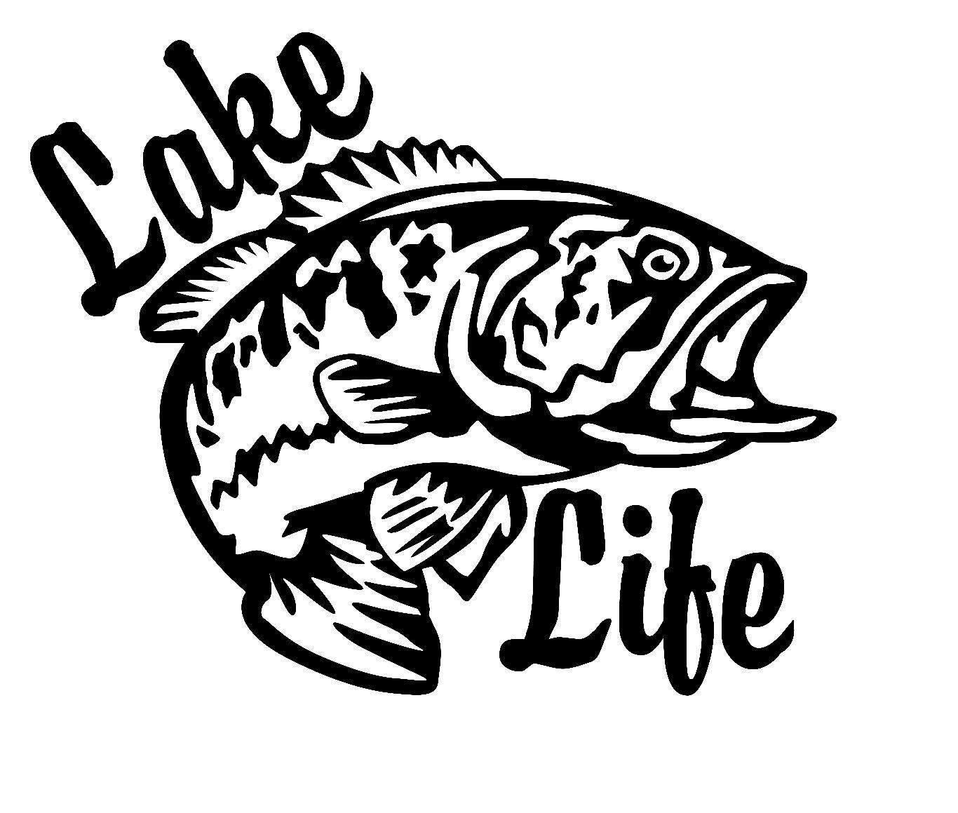 Fishing Lake Life Decal