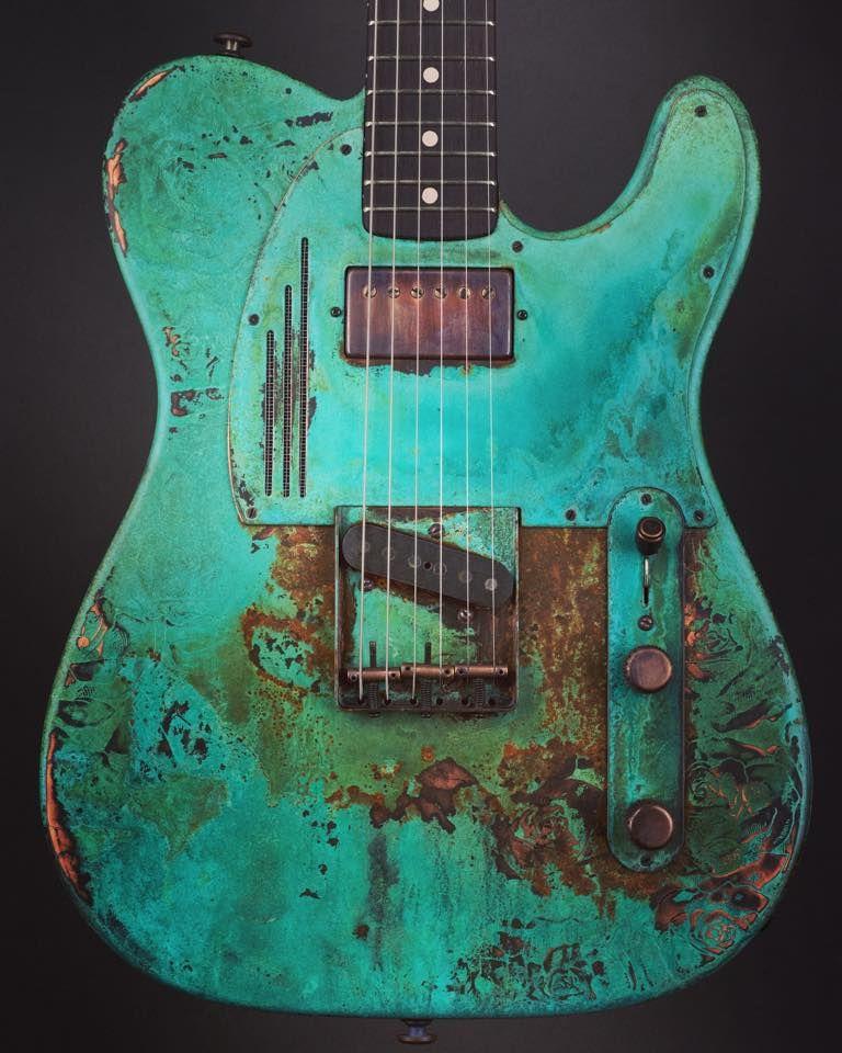 James Trussart Guitars Titanic Green Roses Steelcaster