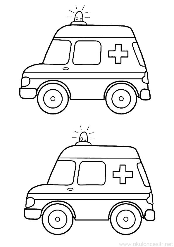 Kizilay Haftasi Boyama Sayfasi Ambulans Boyama Sayfalari Ve