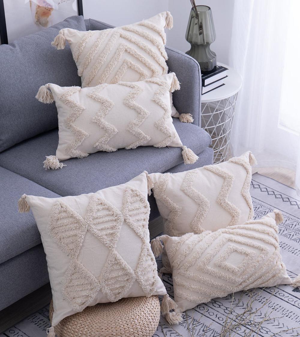 tassels cushion cover 45x 45cm 30x50cm