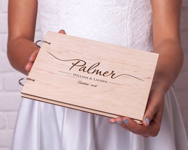 Rustic Wedding Guest Book Wood Guestbook Custom Engraved Wedding Guestbook Ideas Rustic Guest Book Custom Guestbook Unique Guest Book In 2020 Wood Guest Book Wood Guest Book Wedding Rustic Wedding Guest Book