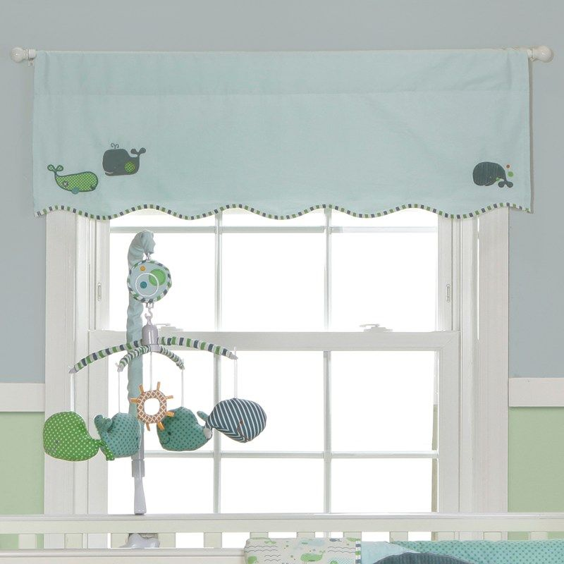 Nursery Window Treatments Whale Valance 375909071