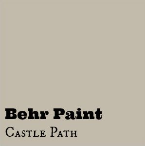behrs castle path it is a grey beige color and it really changed the