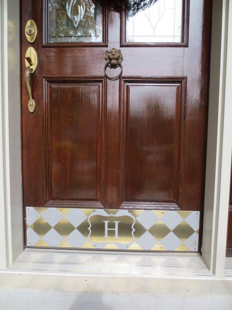 Door Kick Plate Kickplate Monogrammed Home Address Front Door