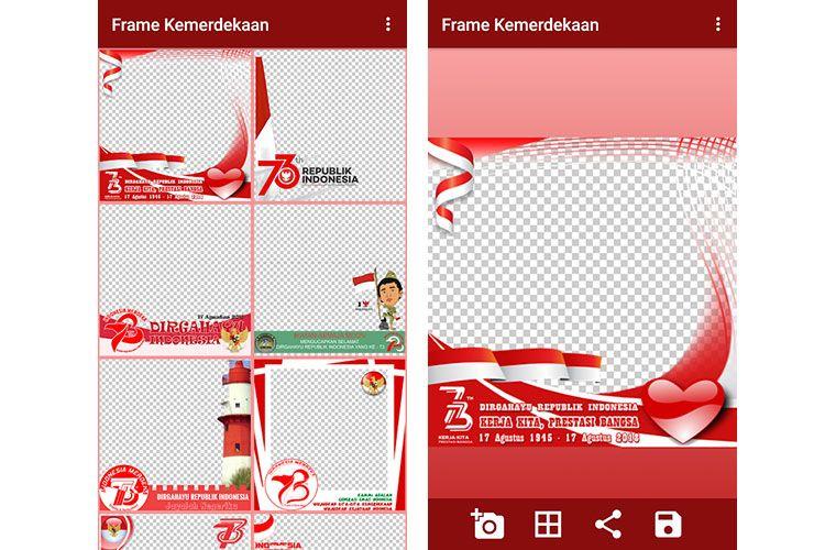 Image Result For Cover Hut Ri Ke 73 Bingkai Foto Bingkai Aplikasi