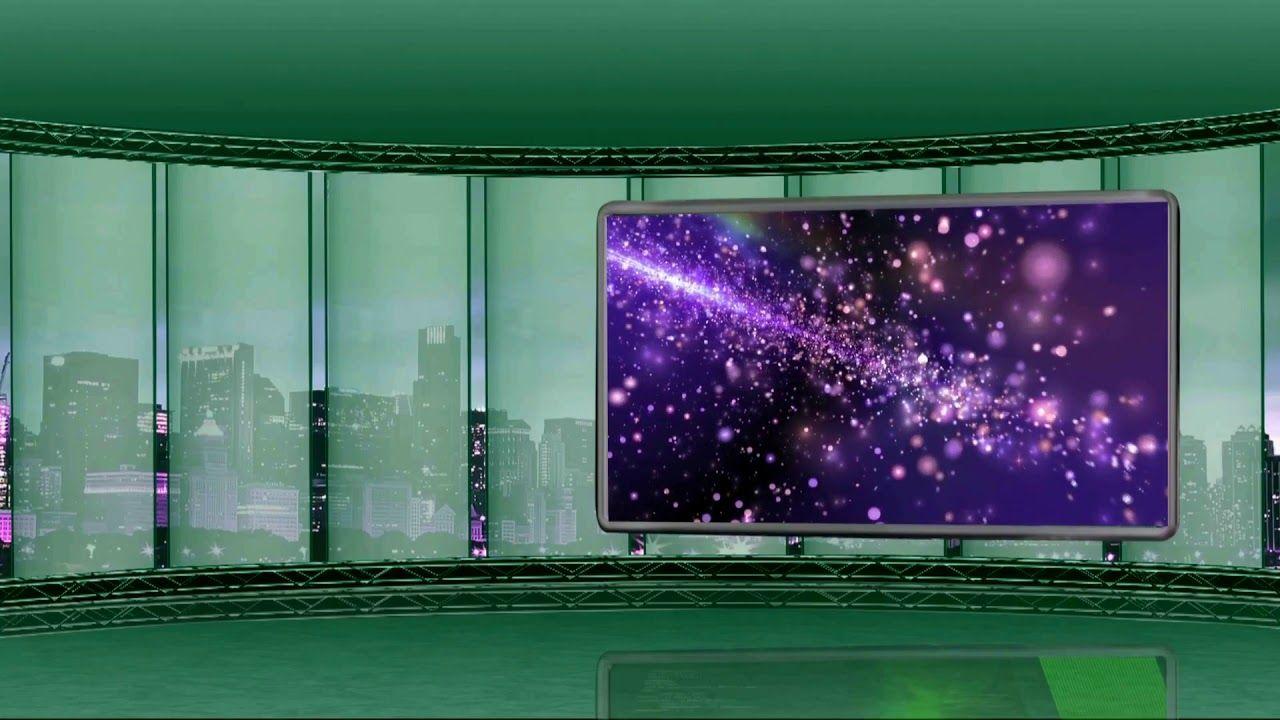 Virtual Studio Green Screen Video, TV Studio Background