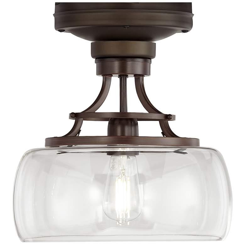 Oil Rubbed Bronze Clear Glass Bowl Ceiling Fan Led Light Kit 56h79 Lamps Plus Fan Light Kits Ceiling Fan Light Kit Fan Light