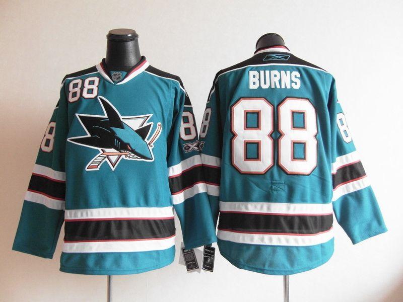 San Jose Sharks 88 Brent BURNS Home Jersey
