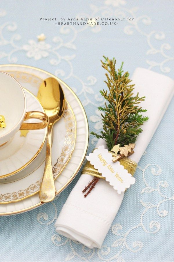 The Diy Christmas Napkin Rings You Have To Make For New Years Day