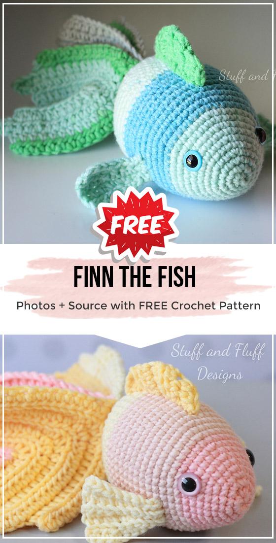 Little Amigurumi Fish Pattern • Oombawka Design Crochet | 1102x560
