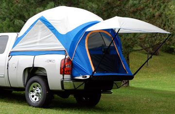 Space Comes At A Premium If You Re Camping This Truck Bed Tent