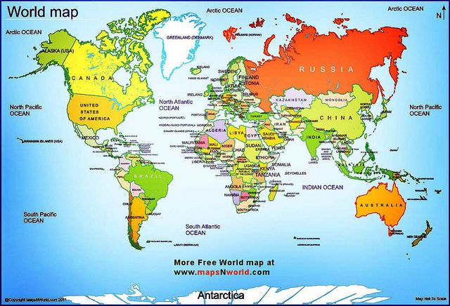 Political Map Of The World Good For Explaining And Having Kid - Map of all countries