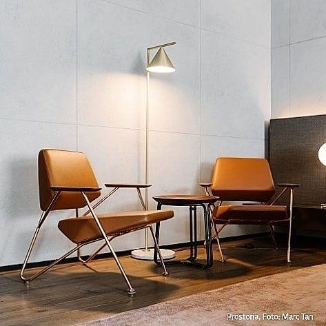 Schlichte Eleganz großer Sitzkomfort und das geradlinige Design - esszimmer im wohnzimmer