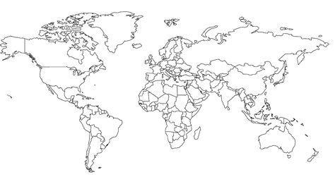 Weltkarte Zum Ausmalen - AZ Ausmalbilder | sonstiges | Pinterest ...