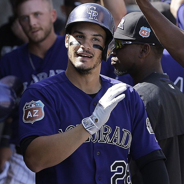 Nolan Arenado, brush your shoulders off. #SpringTraining