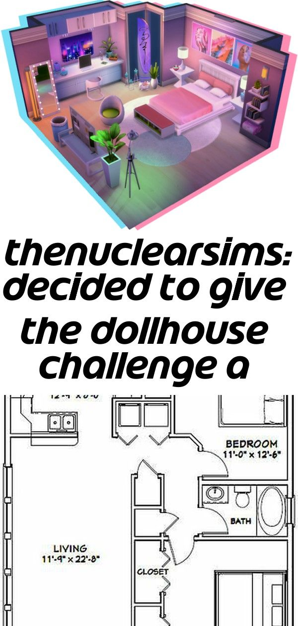 Thenuclearsims: decided to give the dollhouse challenge a try!... #barndominiumideas
