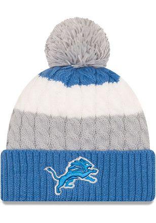 d022ce53 New Era Detroit Lions Blue Sweater Chill Knit Hat | NFL - Detroit ...