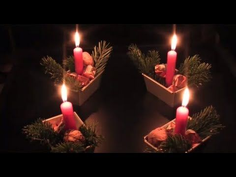 Kuchenform Adventskranz! Schnell und einfach selbst gemacht! - YouTube