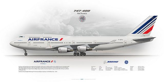 Boeing 747-400 Air France F-GITJ | Pinterest