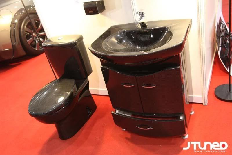 carbon fiber sink and toilet