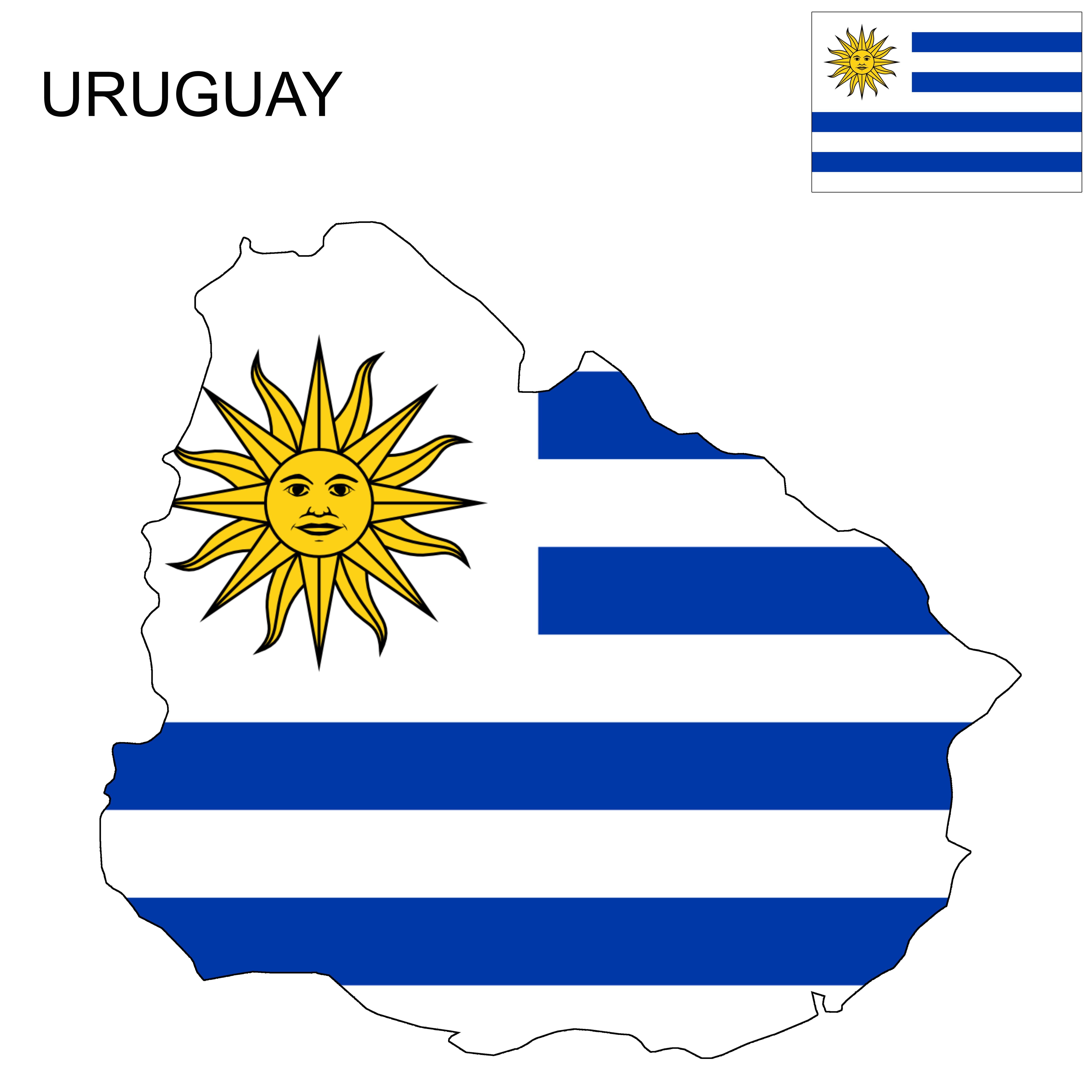 Uruguay Flag Map Uruguay Flag Flag Uruguay
