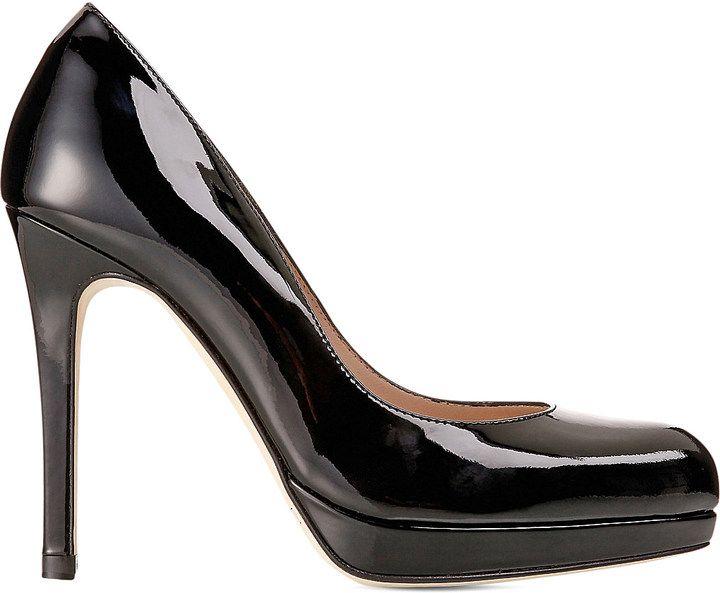LK Bennett Nude Patent Leather Heels Size 39.5
