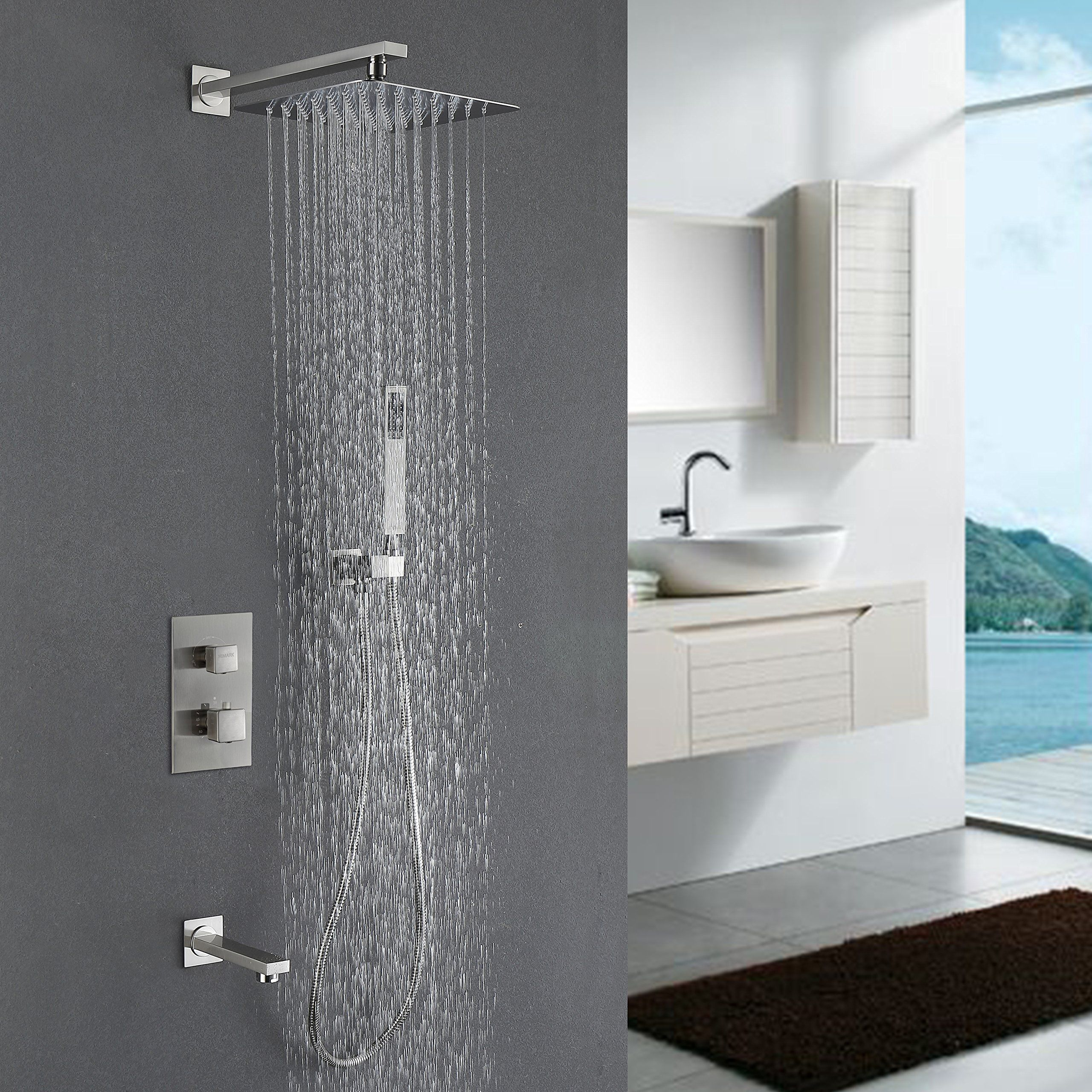 chrome ideas bathroom square styles contemporary showy system shower decorating arm ceiling marvelous room types with fantastic rain decorations for showers modern and assorted inspiring well designs heads as