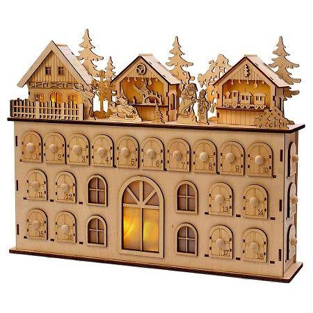 led wooden christmas advent calendar target design inspiration woode. Black Bedroom Furniture Sets. Home Design Ideas