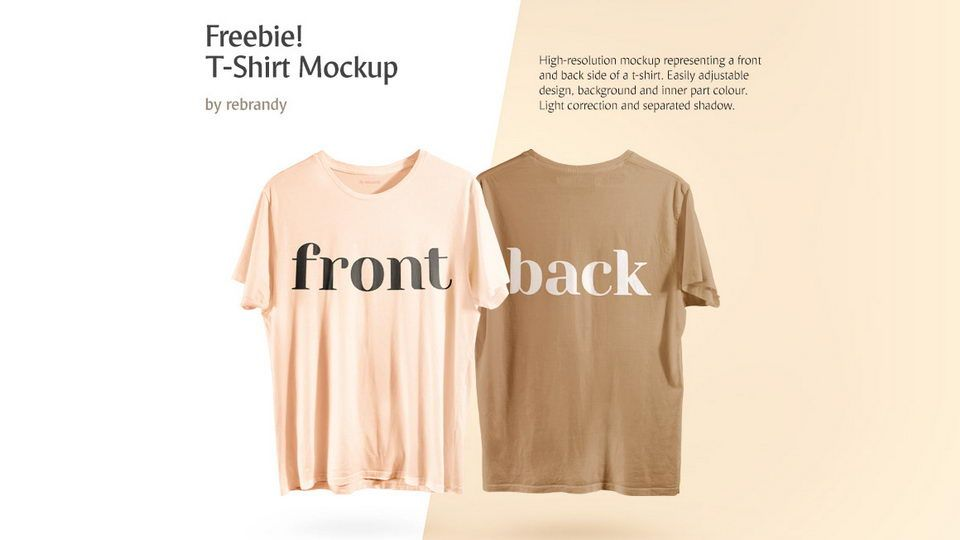 Download Front Back T Shirt Free Mockup Pinspiry Clothing Mockup Shirt Mockup Tshirt Mockup