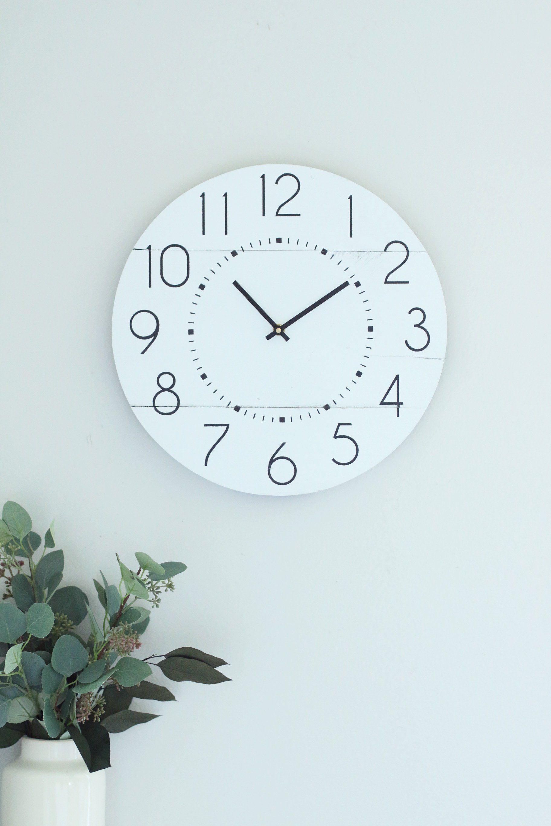 15 Caviar Dreams In White Small White Clock Modern Minimalist