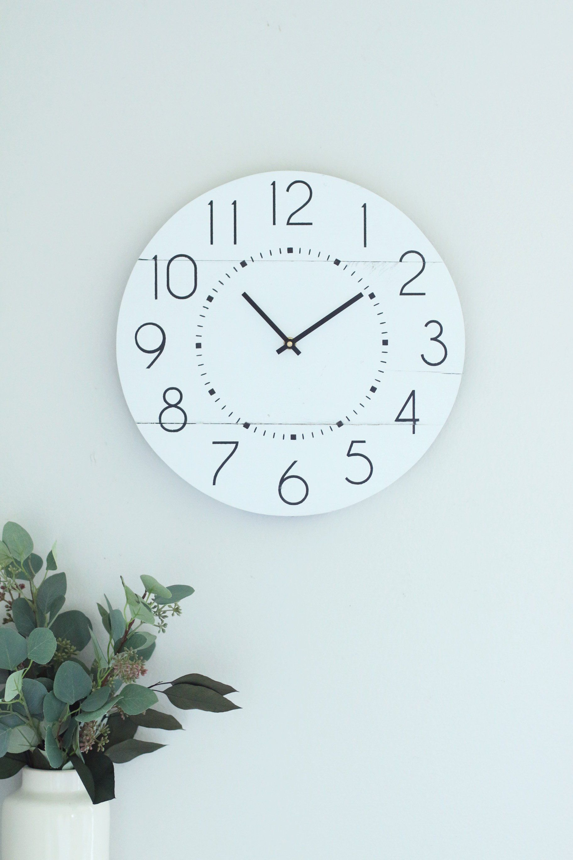 White Wall Clock Classic Wall Clock Modern Wall Clock Home Decor Wall Decor Scandinavian Wood Clock Minim Wall Clock Modern Wall Clock Classic Wall Clock