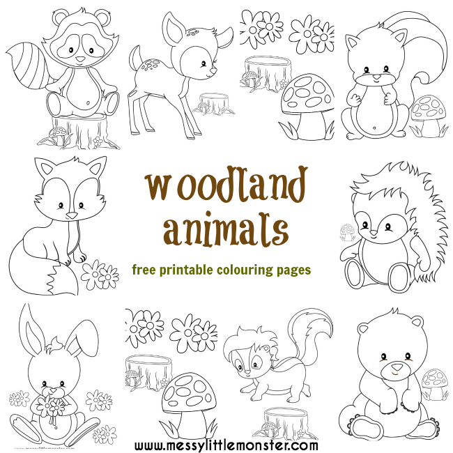 Toddlers Animal Coloring Pages Colouring Pages Woodland Animals
