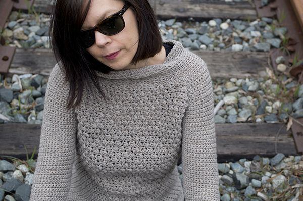 New crochet pattern up: Acute Sweater! Check it out at Kraftling.ca.