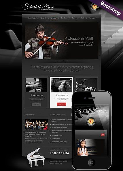 10 Most Popular Html Templates School Website Templates Music Website Templates Website Template