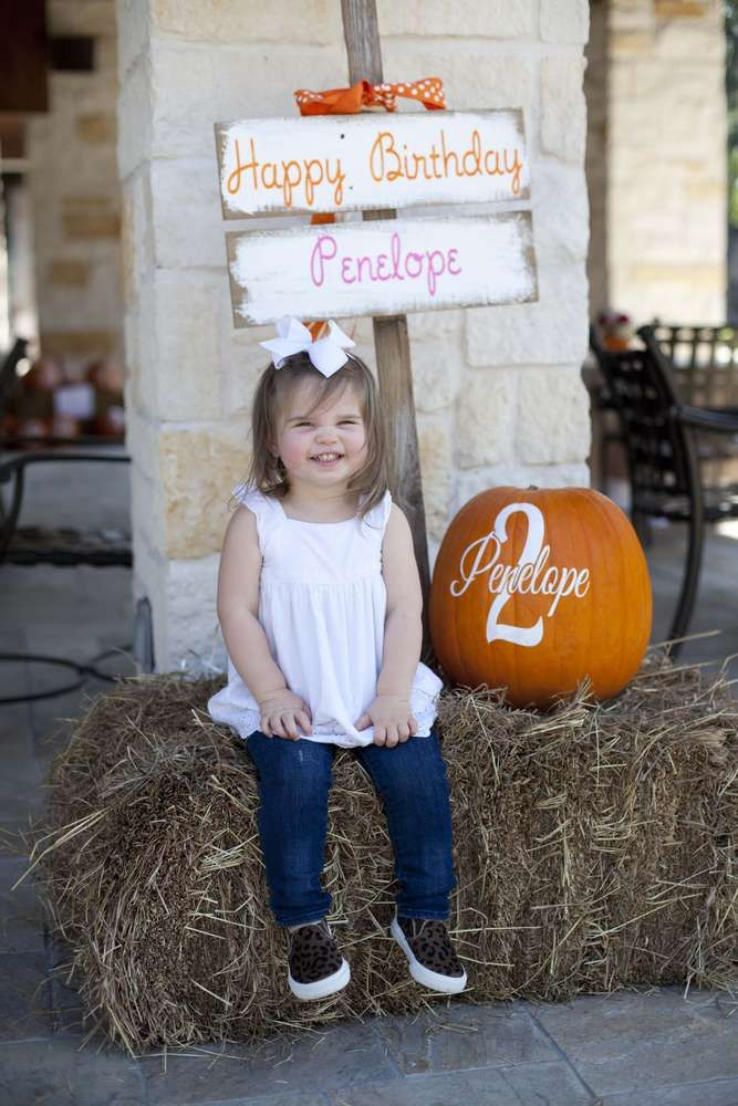 Pumpkin Birthday Party Ideas | Pumpkin birthday parties ...