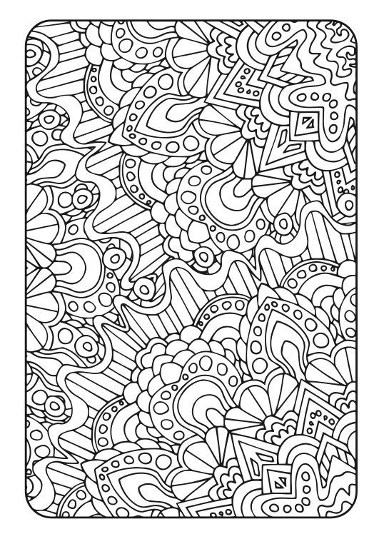 Adult coloring book art therapy volume 3 printable for Therapeutic coloring pages for children