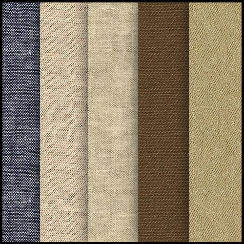 5 Free Seamless Cotton Fabric Textures Pack Download