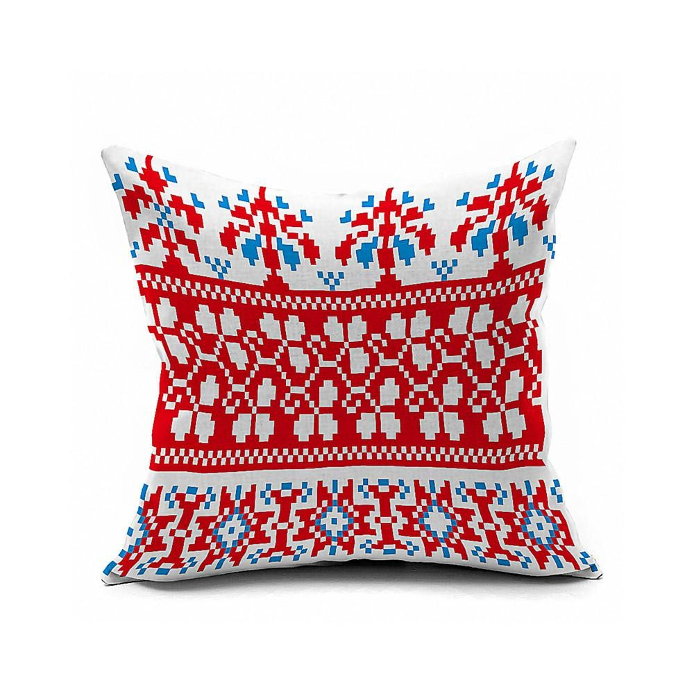 Cotton Flax Pillow Cushion Cover Geometry    JH310 - 2PS
