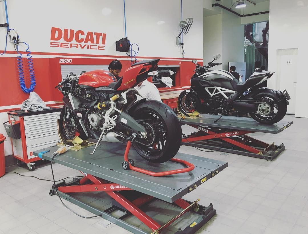 My Favourite Part Of The New Ducati Pune Showroom The Service