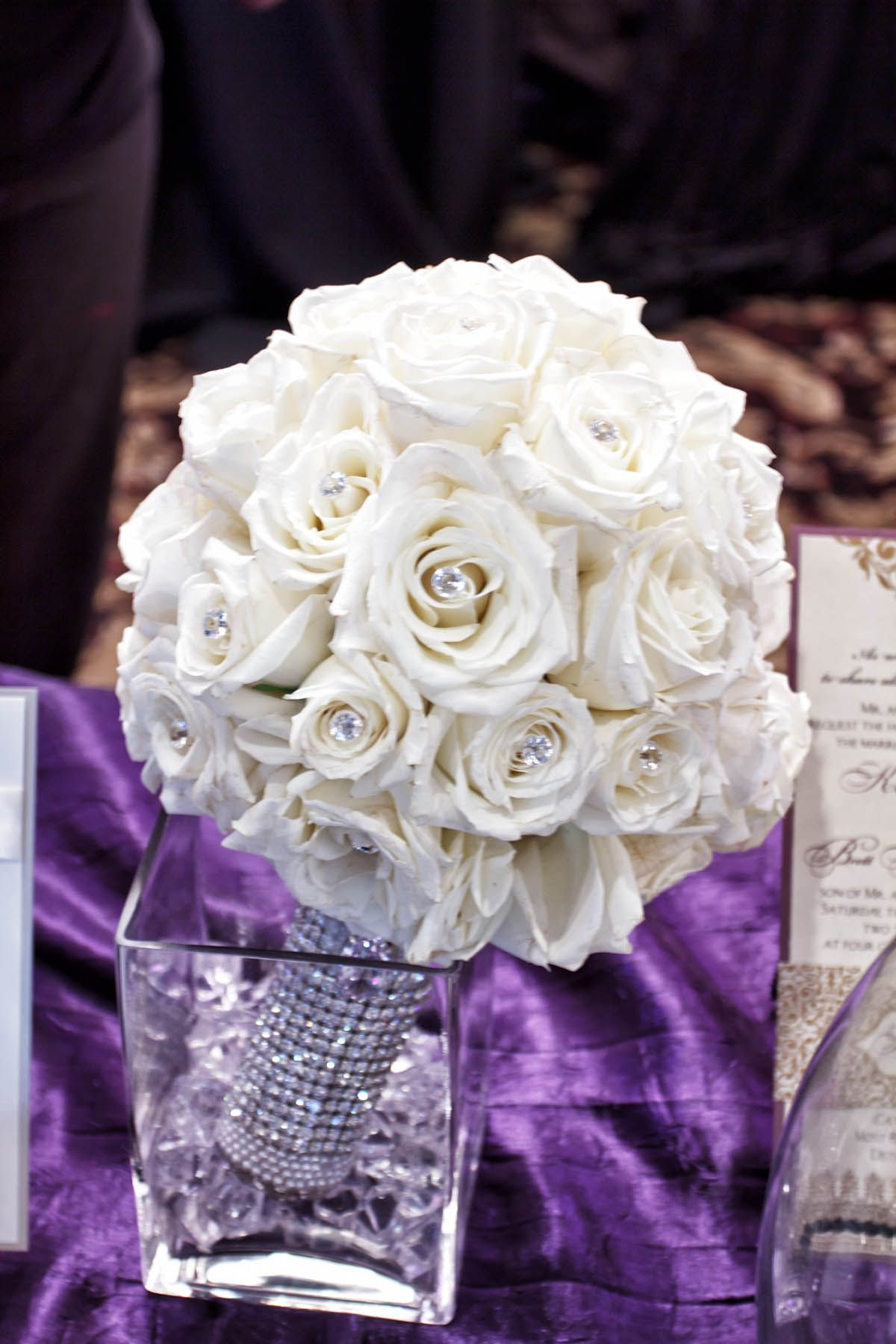Crystal Bouquet Holder.By Top That! Event